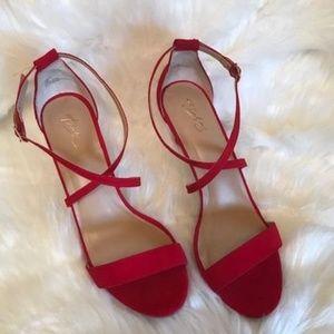 Alfani Low Sling Cross Strap Heels - NEW
